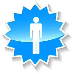Man blue icon