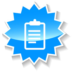 List blue icon