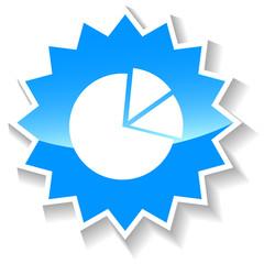 Diagram blue icon