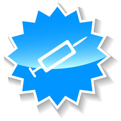 Syringe blue icon