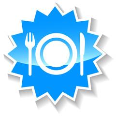 Food blue icon