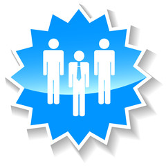 Leader blue icon