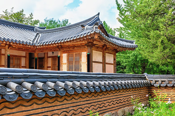 Traditional architecture old building or house in Korea