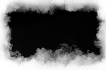 Garden Poster Smoke smoke cloud frame, isolated on black