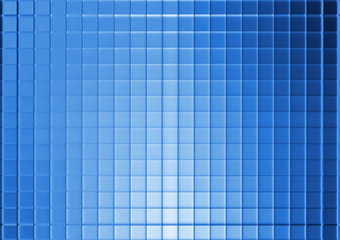 Blue and white mosaic