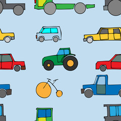 Car Seamless Wallpaper. Vector illustration