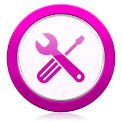 tools violet icon service sign