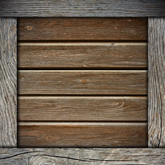 wood wall background with frame