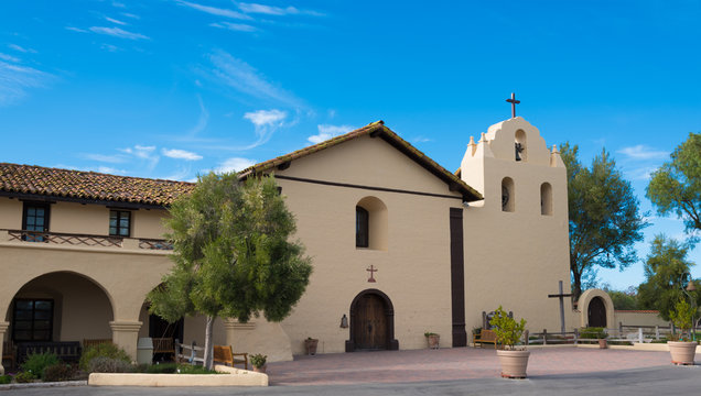 Old Spanish mission in Solvang California