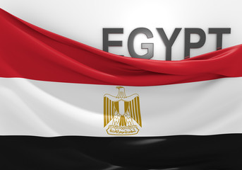 Egypt flag and country name