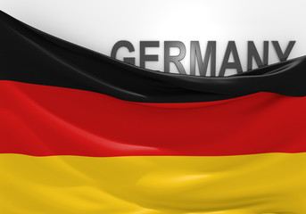 Germany flag and country name