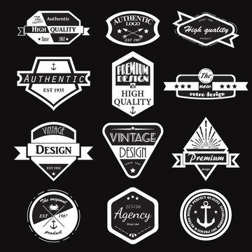 Retro Vintage Logotypes set.