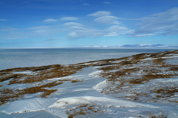 Arctic. Ice of the Arctic Ocean off the coast of Chukotka.
