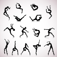 Set of female dance