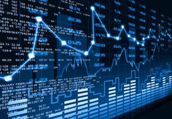 Stock market chart  .