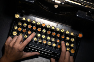 Vintage typewriter keyboard