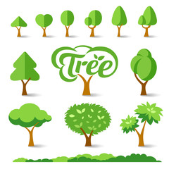 Trees collections set design