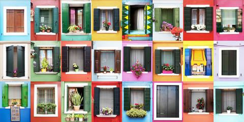 Finestre colorate di Burano