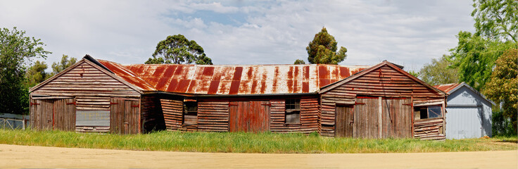 old farm building in victoria australia