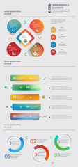 Abstract template infographic