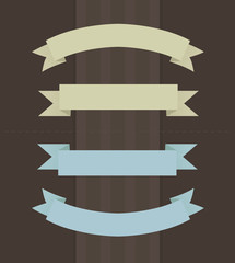 Vector illustration of ribbons in vintage colors