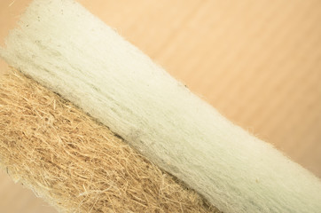 thermal insulating hemp and synthetic fiber panels