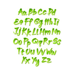 Vector alphabet. Letters of the alphabet written with a brush.