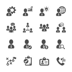 business and management icon set 10, vector eps10