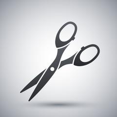 Vector scissors cut icon