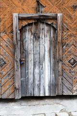 old wooden door. Bratislava. Slovakia