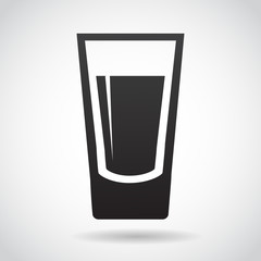 Shot glass vector icon.