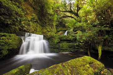 Canvas Prints New Zealand Small falls downstream from Mclean Falls, Catlins, New Zealand