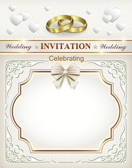 wedding card with rings