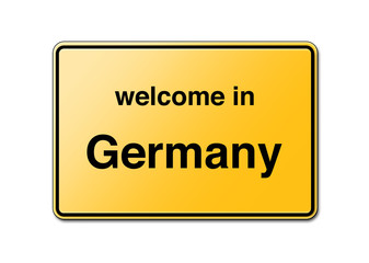 Welcome in Germany Sign