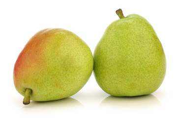 Two  Anjou Pears on a white background