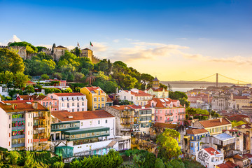 Lisbon, Portugal Skyline Wall mural