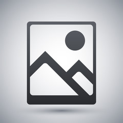 Vector photograph icon