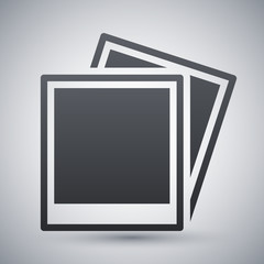 Vector photo cards icon