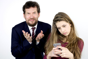 Desperate father with daughter addicted to cell phone