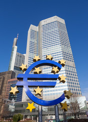 Euro sign in Frankfurt am Main