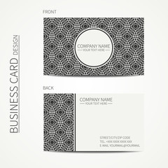 Vintage creative simple monochrome business card template for
