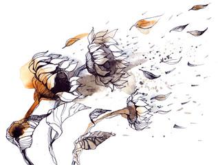 Foto auf Leinwand Gemälde wind