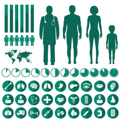 vector medical infographic, human body anatomy, health