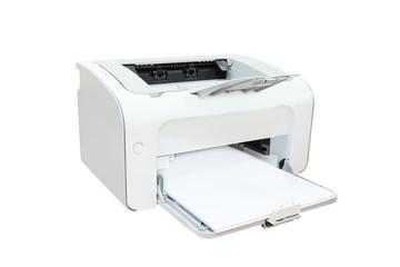 Printer and paper closeup