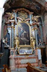 Altar of Saint Barbara in Barmherzigenkirche in Graz, Austria