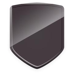 Dark gray shield. Vector.