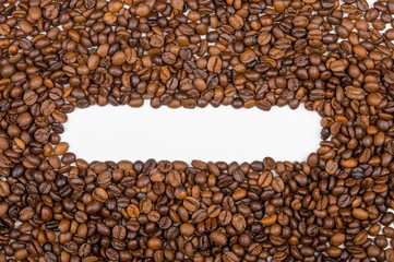background of coffee beans for text