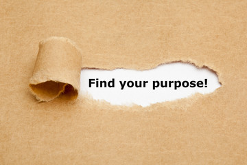Find your purpose Torn Paper Wall mural
