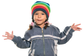 Mixed race little girl with a funny attitude