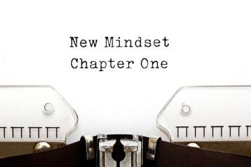 New Mindset Chapter One Typewriter
